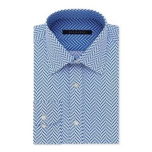 SEAN JOHN Sapphire Print Geometric Dress Shirt 18